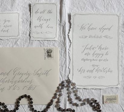 modern calligraphy elopement