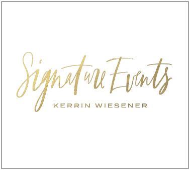 Logodesign und Branding für Signature Events, Kerrin Weisener, Hochzeits- und Eventplanung