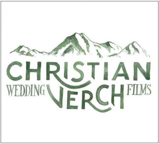 Hand lettered and illustrated logo design for Christian Verch Wedding Films – designed by Nicnillas Ink