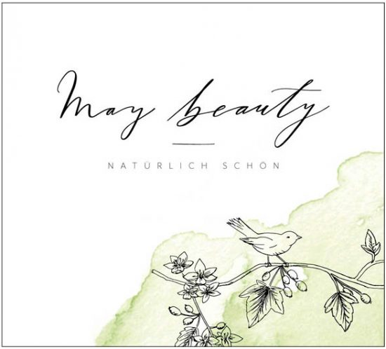 handletted logo and custom illustrations for may beauty branding