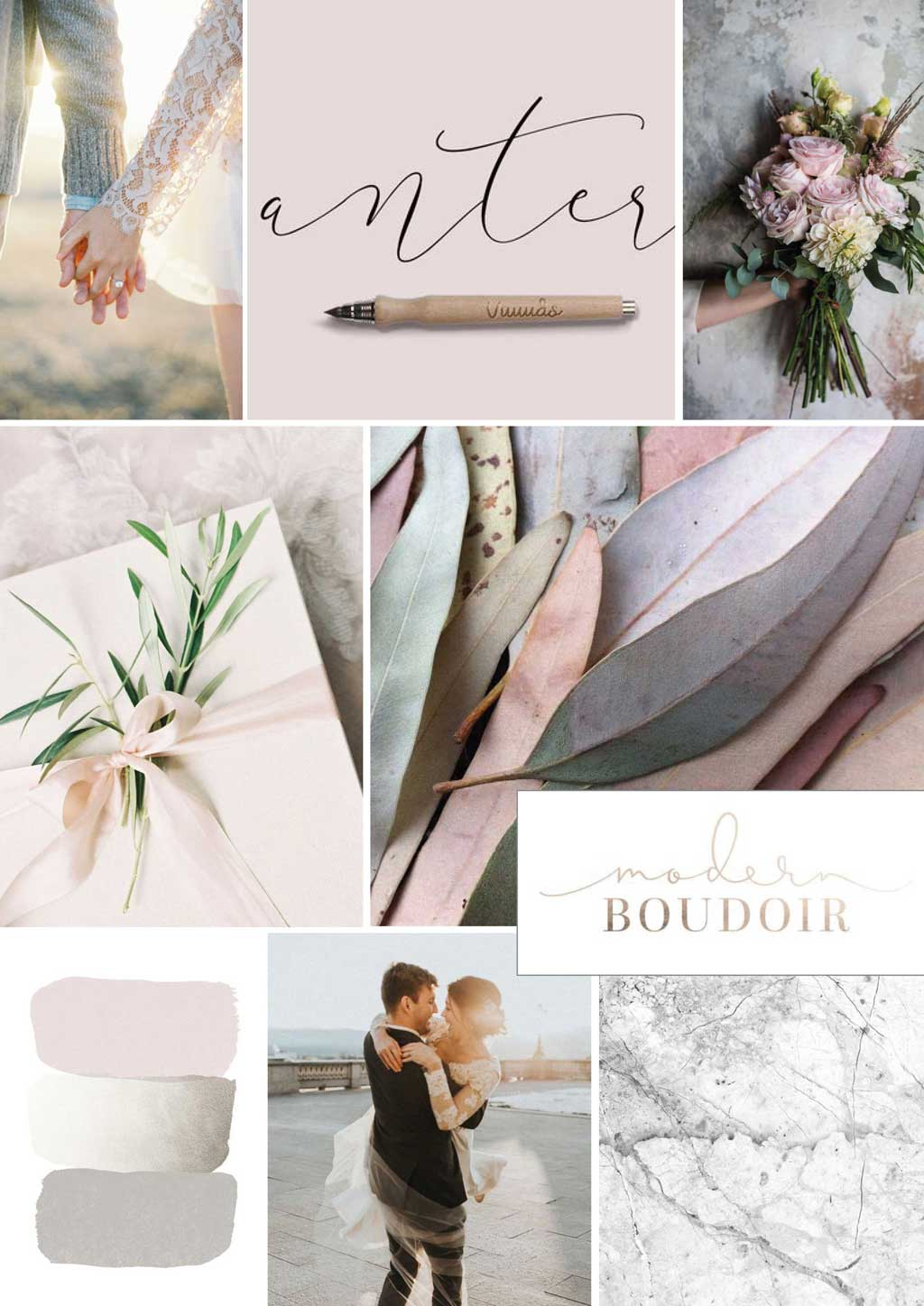 mood and vision board for new branding for photographer Anna Mardo